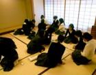 クラスごとに和室で