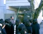 中央門のソメイヨシノを見る