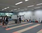 学習室はホールの楽屋