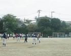 練習するソフトボール、ソフトテニス、陸上