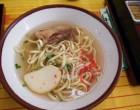 昼食は沖縄料理 そーきそば